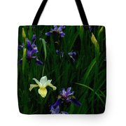 Wild Blue And White Tote Bag