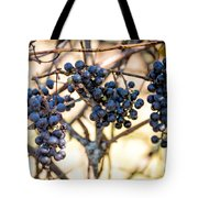 Wild Blue Grapes Tote Bag