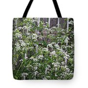 Wild Caraway And Old Fence Tote Bag