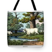 Wild Cattle Of Britain Tote Bag