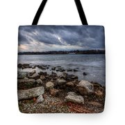 Wild Clouds On The Lake Tote Bag