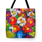 Wild Colorful Flowers Tote Bag