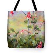 Wild Columbines Tote Bag by Lenore Gaudet