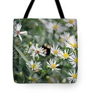 Wild Daisies And The Bumblebee Tote Bag