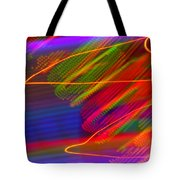 Wild Electric Sky In The Cosmos Tote Bag