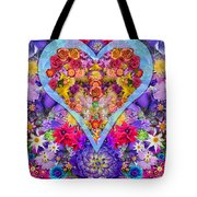 Wild Flower Heart Tote Bag by Alixandra Mullins