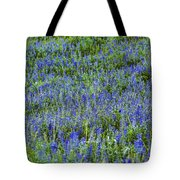 Wild Flowers Blanket Tote Bag
