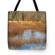 Wild Geese On The Farm Tote Bag