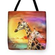 Wild Generations - Giraffes  Tote Bag