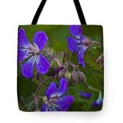 Wild Geranium Tote Bag