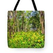 Wild Ginger And Ohia Trees Tote Bag
