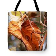 Wild Grapevine Leaf Tote Bag