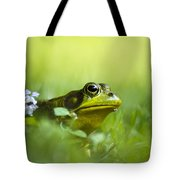 Wild Green Frog Tote Bag