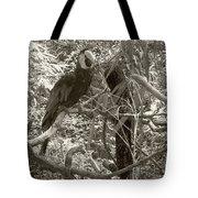 Wild Hawaiian Parrot Sepia Tote Bag
