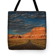 Wild Horse Butte And Road Goblin Valley Utah Tote Bag