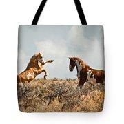 Wild Horse Fight Tote Bag