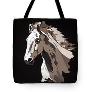 Wild Horse With Hidden Pictures Tote Bag