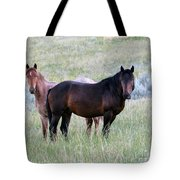 Wild Horses In The Badlands Tote Bag