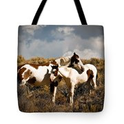 Wild Horses Mother And Child Tote Bag