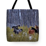 Wild Horses Of The Ghost Forest Tote Bag