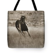 Wild Horses-sepia-signed-#7288 Tote Bag