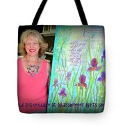 Wild Iris Collage At Glasshopper Gifts Show Tote Bag