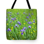 Wild Iris Patch Tote Bag