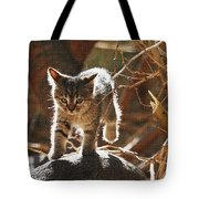 Wild Kitten Happy To Be Alive Tote Bag