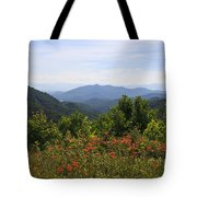 Wild Lilies With A Mountain View Tote Bag