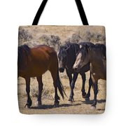 Wild Mares-signed-#0271 Tote Bag