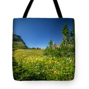 Wild Mountain Flowers Glacier National Park   Tote Bag
