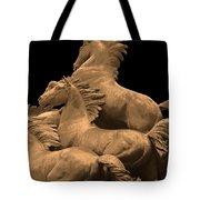 Wild Mustang Statue I I I Tote Bag