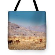 Wild Nevada Mustang Herd Tote Bag