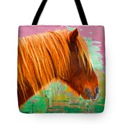Wild Pony Abstract Tote Bag
