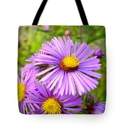 Wild Purple Asters Tote Bag