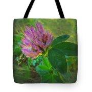 Wild Red Clover Blossom Tote Bag