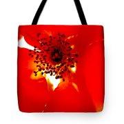 Wild  Red Rose Extrem Macro Tote Bag