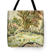 Wild Rhododendrons Near The River Tote Bag