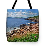 Wild Roses At Lakies Head In Cape Breton Highlands Np-ns Tote Bag