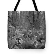 Wild Skunk Cabbage Bw Tote Bag
