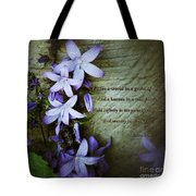 Wild Star Flowers And Innocence  Tote Bag