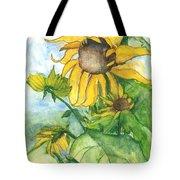 Wild Sunflowers Tote Bag by Sherry Harradence
