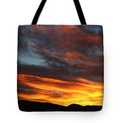 Wild Sunrise Over The Mountains Tote Bag