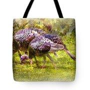 Wild Turkey Hens Tote Bag by Barry Jones