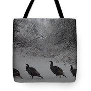 Wild Turkey Winter Tote Bag