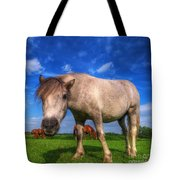 Wild Young Horse On The Field Tote Bag