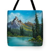 Wilderness Waterfall Tote Bag by C Steele