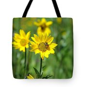 Wildflower Bee Tote Bag