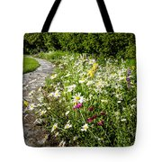 Wildflower Garden And Path To Gazebo Tote Bag