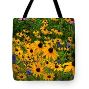 Wildflower Gold Tote Bag